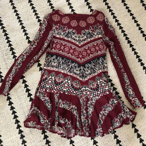 Free People long sleeve tunic